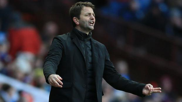 Tim Sherwood's first game in charge of Aston Villa ended in defeat