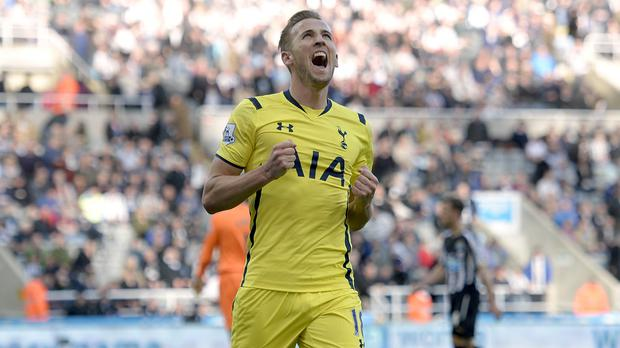 Harry Kane scored Tottenham's third at Newcastle