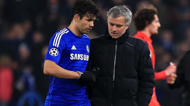Jose Mourinho, right, insists Diego Costa is happy at Chelsea