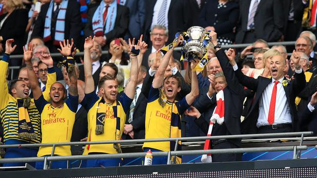 Arsenal chief executive Ivan Gazidis, right, has confidence manager Arsene Wenger can deliver another winning side next season