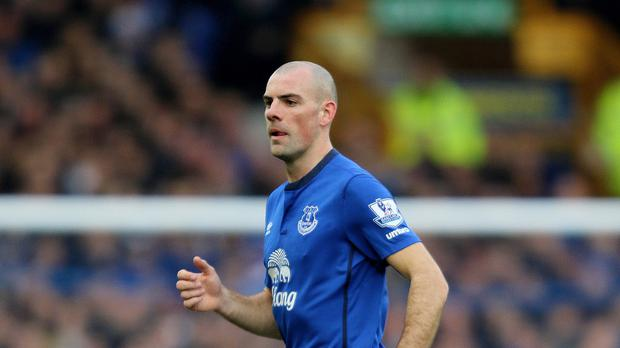 It is claimed the Everton star struck the cyclist near the footballer's home in Altrincham, south Manchester.