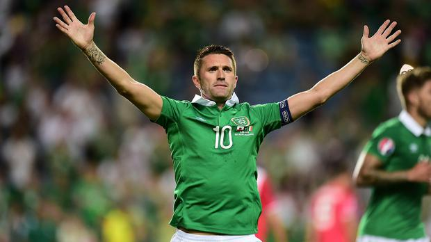 Robbie Keane scored twice in a few minutes against Gibraltar