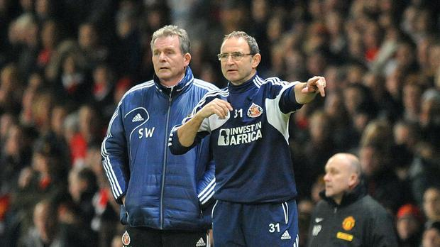 Steve Walford, left, has been a long-time coach for Martin O'Neill