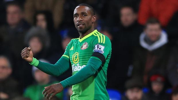 Defoe's first two goals were perilously close to being offside: PA News