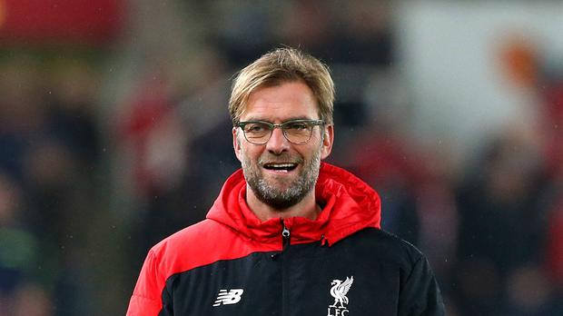 Liverpool manager Jurgen Klopp celebrates after getting through to the League Cup final: Reuters