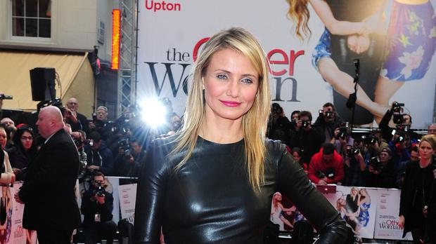 Cameron Diaz at the UK gala screening of The Other Woman, which helped win her the worst actress award