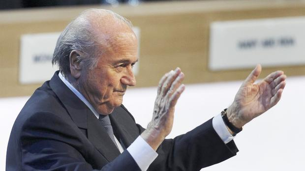 Sepp Blatter has won a fifth term as Fifa president (AP)