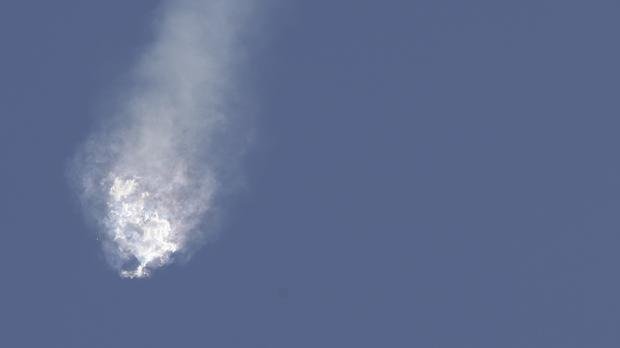 The SpaceX Falcon 9 rocket and Dragon spacecraft breaks apart shortly after lift off at the Cape Canaveral Air Force Station in Florida. (AP)