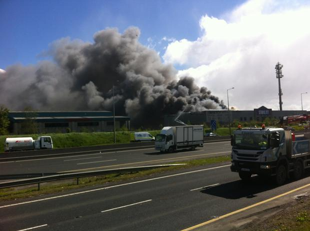 Fire at Ballymount. Photo: David Conachy