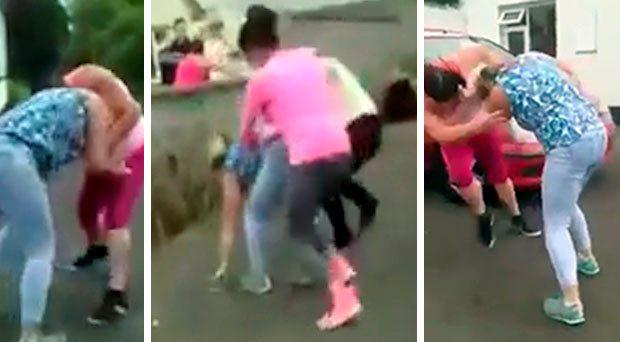 The brawl was caught on camera and posted to YouTube. Photo: YouTube/Screengrab