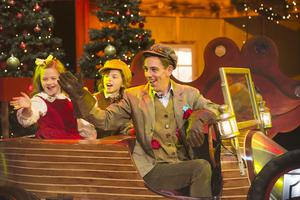 Ryan Tubridy pictured during the opening performance of the RTÉ Late Late Toy Show 2014 with a medley of songs from Chitty Chitty Bang Bang. Picture Andres Poveda