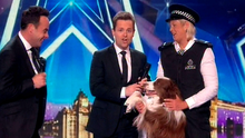 Britain's Got Talent hosts Ant and Dec with Jules Dwyer and Mattise