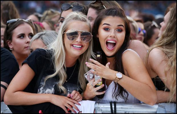 Watching Justin Bieber on stage at the RDS last night was Megan Page and Grace Sherlock from Artane Dublin.