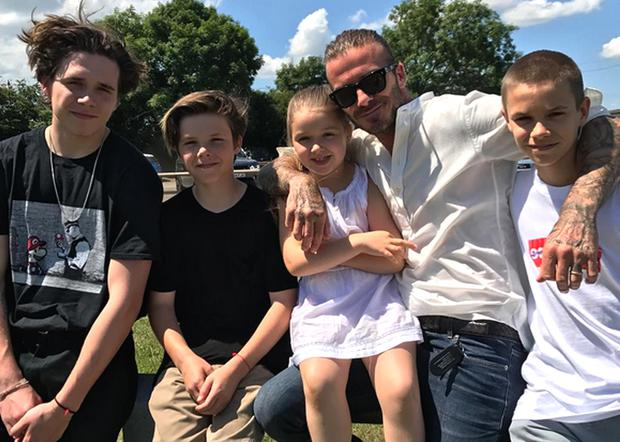 Beckham and his kids