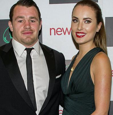 Holly Carpenter with rugby star ex boyfriend Cian Healy.