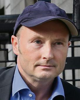 Jim Corr, leaving the Four Courts