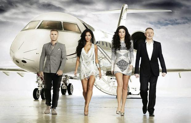 X Factor judges (left to right) Gary Barlow, Nicole Scherzinger, Tulisa Contostavlos and Louis Walsh. Photo: PA