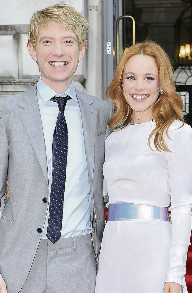 Domhnall Gleeson and Rachel McAdams at the About Time premiere. Photo: Getty
