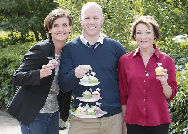Anna Nolan, Paul Kelly and Biddy White Lennon of The Great Bake Off. Photo: Brian McEvoy