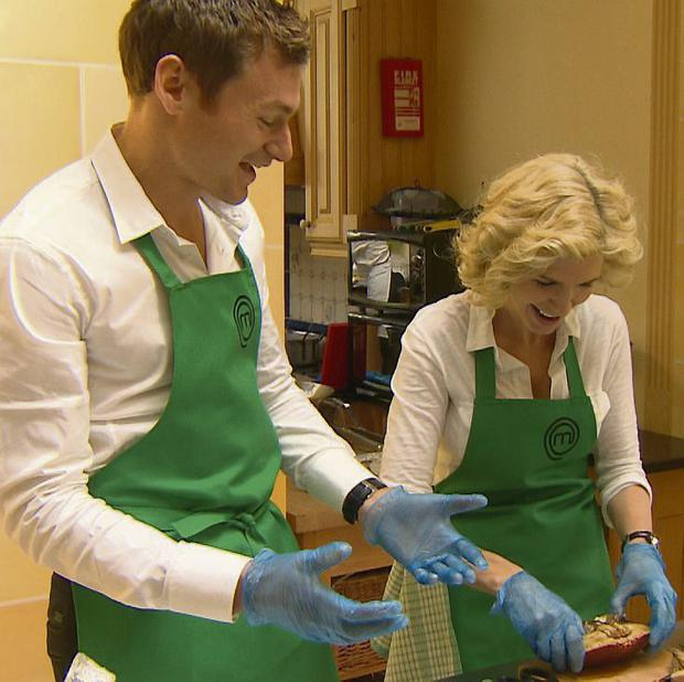 Yvonne Keating and David Gillick get crabby in the kitchen