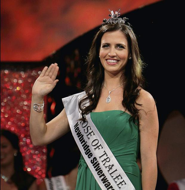 Winner Haley O Sullivan from Texas after the Rose of Tralee last night at The Dome. Photo: Steve Humphreys