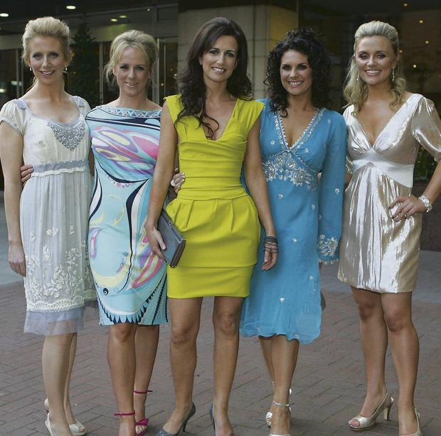 Fun: Aisling O'Loughlin, Sybil Mulcahy, Lorraine Keane, Lisa Cannon and Karen Koster in 2007. Photo: Brian McEvoy