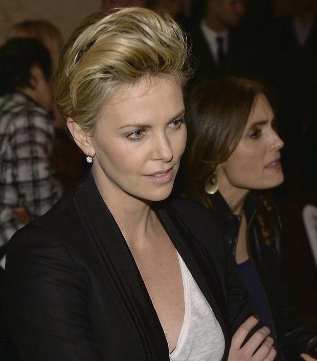 Relaxed: Charlize Theron at a bash for new film Lone Survivor. Photo: Getty Images