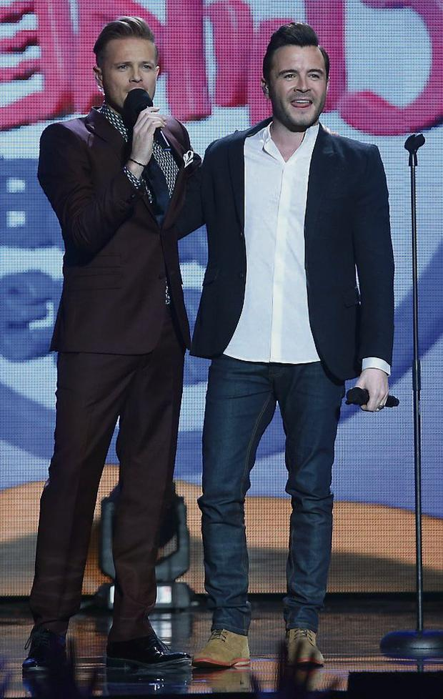 Pals: Nicky Byrne and Shane Filan. Photo: Collins