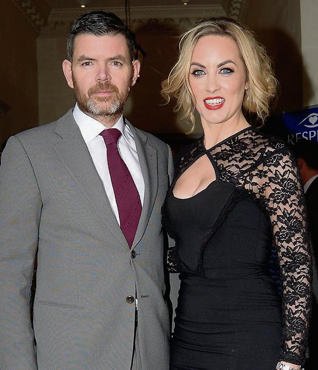 Kathryn Thomas and partner Padraig McLoughlin Photo: Caroline Quinn