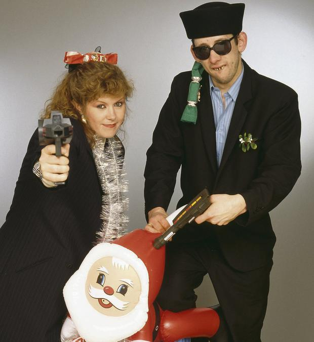 Singers Kirsty MacColl (1959 - 2000) and Shane MacGowan. Picture: Getty