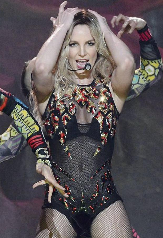 Britney Spears at Las Vegas gig. Photo: AP