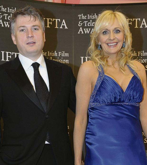 Miriam O'Callaghan and Steve Carson. Photo: IFTA/PA Wire
