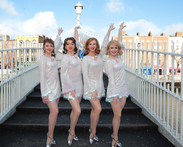 Charlie Allen, Amelia Adams Pearce, Sinead Long and Leanne Garretty Members of the cast of Jersey Boys the musical in Dublin to announce details of Jersey Boys the musical which will touch down at the Bord Gais Energy Theatre from April 1st - April 18th 2015.