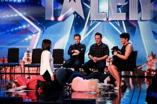 Krystyna Lennon and her dog Princess, during the audition stage of ITV1 talent show