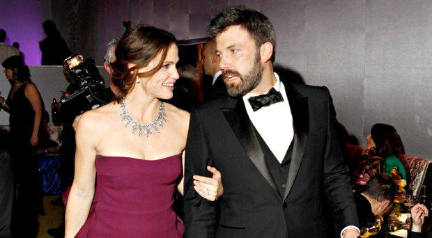 Jennifer Garner and Ben Affleck leave the Governors Ball following the 85th Academy Awards in Hollywood, California in a February 24, 2013 file photo
