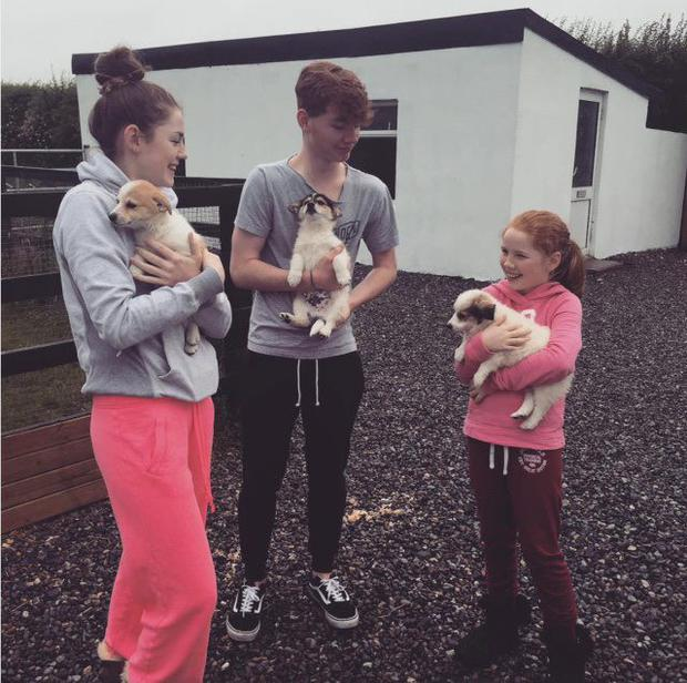Missy, Jack and Ali Keating - and new pup Riley (centre)