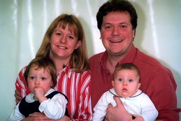 Alex and Sue Tatham, with their children Charlie (six months) and Emily (two-and-a-half)