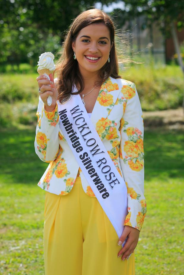 Wicklow Rose Megan Swart during the launch of the RTE Rose of Tralee, at RTE HQ,Dublin.