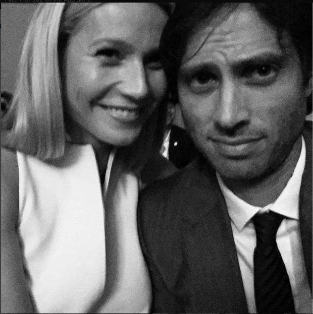Gwyneth Paltrow and Brad Falchuk from his Instagram