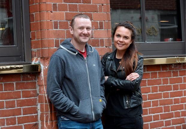 P.J. Gallagher and Joanne McNally pictured ahead of their tour 'Separated at Birth'