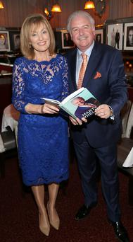 Mary Kennedy with Marty Whelan at the launch of Marty Whelan's memoir That's Life Trocadero,Restaurant,Dublin.