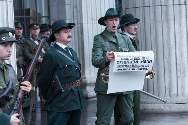 Padraig Pearse reads the Proclamation in Rebellion