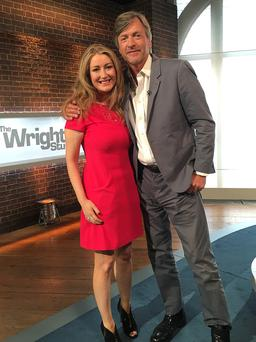 Andrea Hayes made her debut on Breakfast TV in the UK this morning with Richard Madeley, who was hosting Channel 5's 'The Wright Stuff' on behalf of Matthew Wright. Her positivity and down-to-earth manner were an instant hit with the UK audience as her extraordinary story struck a chord with viewers and led to an unprecedented volume of calls being received by the station's flagshop show.