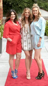 Ruth O'Neill with fellow presenters Lisa Cannon and Cassie Stokes when she was unveiled as the new face of Xposé.