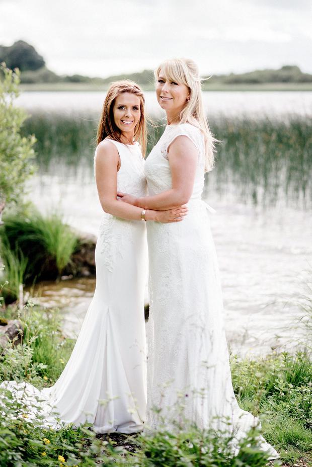 Jenny Green and Kelly Keogh on their wedding day