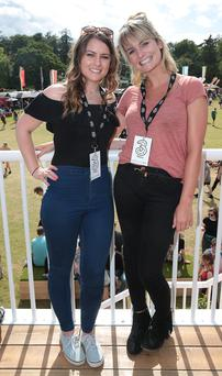 Katie Graham and Claire Daly pictured at the 3Live experience at Longitude, where Three made sure festival goers were charged up and ready to enjoy the three day music festival. 3Live connects festival-goers to what matters most - great music and experien