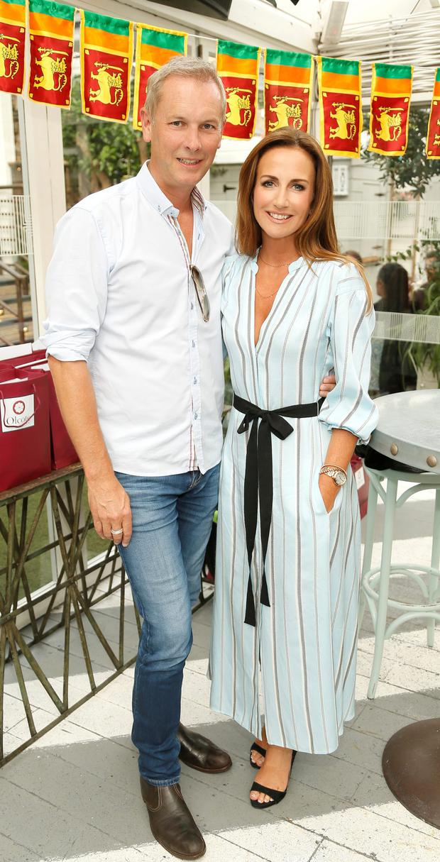 Peter Devlin and Lorraine Keane at the launch of the Olcote in Ceylon boutique hotel at House on Leeson St