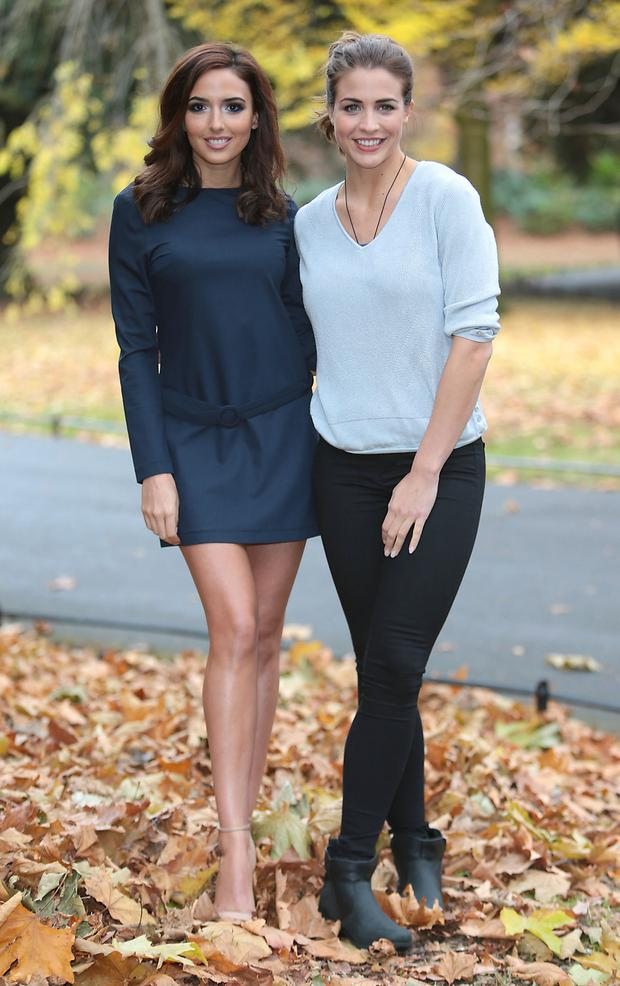 MasterChef contestant Nadia Forde and Emmerdale's Gemma Atkinson at the TV3 launch