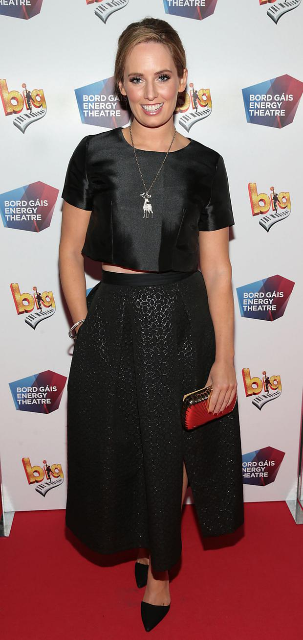 Actress Aoibheann McCaul at the European premiere of BIG the Musical at the Bord Gais Energy Theatre,Dublin.