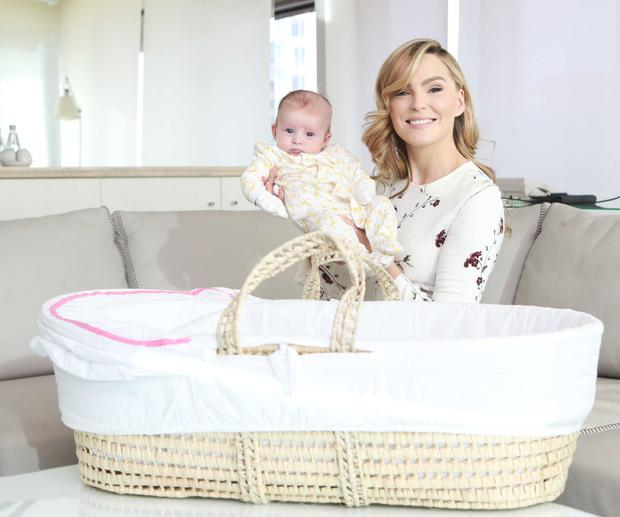Sarah Morrissey with her 2-month-old daughter Sadie Jennings